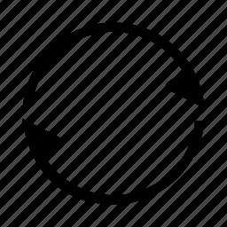 arrow, circle, cycle, flag, round icon