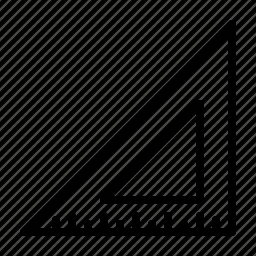 job, measure, repair, screw, tool, triangle, work icon