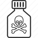 caution, danger, death, phial, poison vial, toxic, tube icon