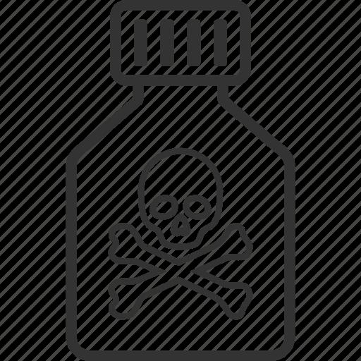 caution, danger, death, phial, poison vial, toxic, tube icon