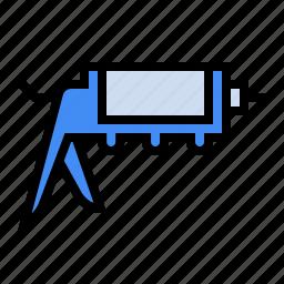 calk gun, grout, plumber, plumbing, tile, tools icon
