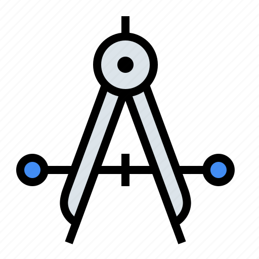 caliper, compass, design, drafting, precision, tools icon