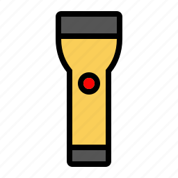 flashlight, illuinate, light, tools, torch icon