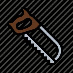 hacksaw, metal, saw, tools icon