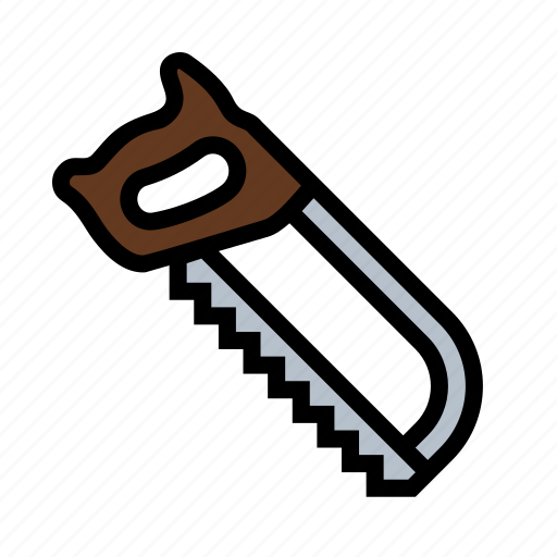 hacksaw, metal, saw, tools icon