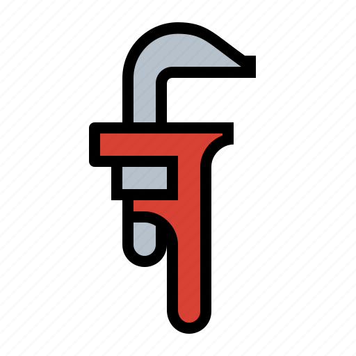 mechanic, pipe wrench, pipes, plumber, tools icon