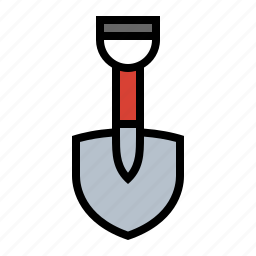 dig, gardening, grave, lawn care, shovel, tools, yard work icon