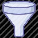 equipment, filter, funnel, laboratory, tools icon
