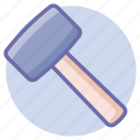construction, hammer, tools icon