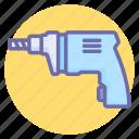 drill, drill machine, drilling, power drill, tools