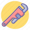 maintenance, pipe, pipe wrench, tools, wrench icon