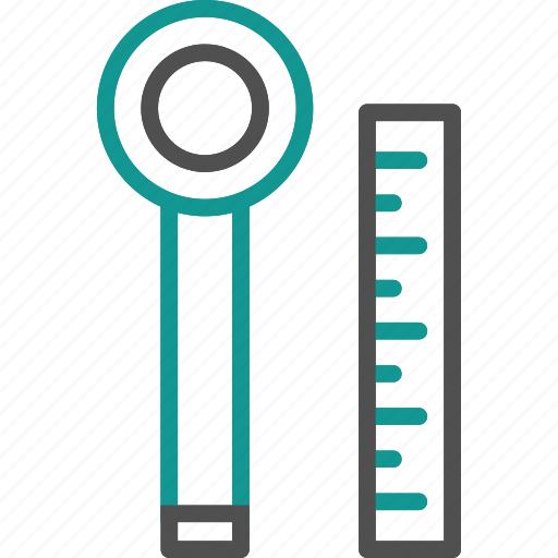 measure, measurements, ruler, scale, tool, wrench icon