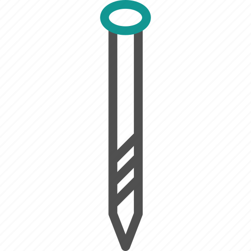 construction, metal, nail, tool icon