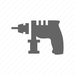 build, construction, drill, instrument, repair, tool icon