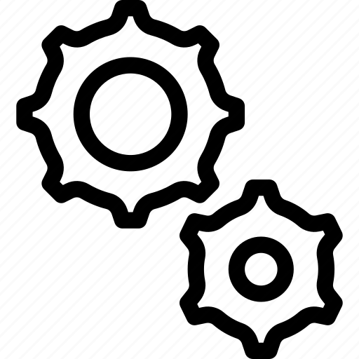 cog, gear, rotate, settings icon