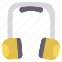 ear protection, gear, hand, repair, safety, tool, tools icon