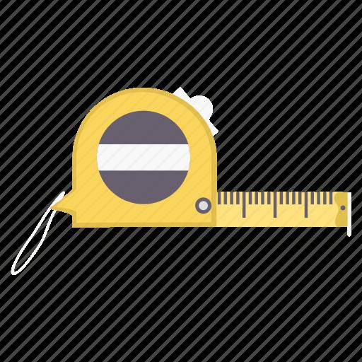 construction, hand, measurement, repair, tape, tool, tools icon
