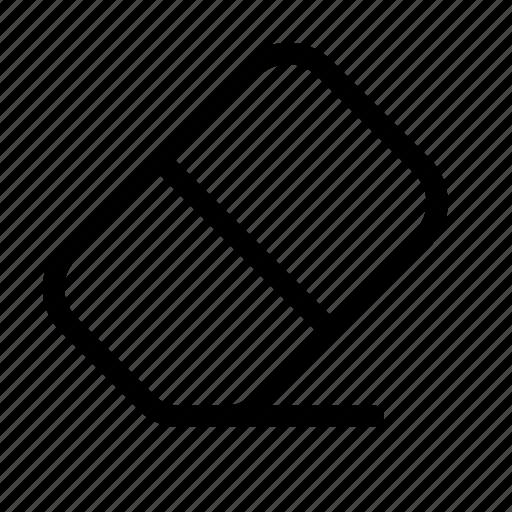 delete, erase, eraser, remove, rub, rubber, tool icon