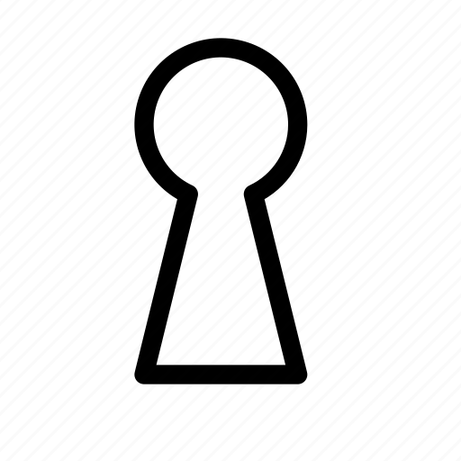 hole, key, keyhole, lock, privacy, security, unlock icon