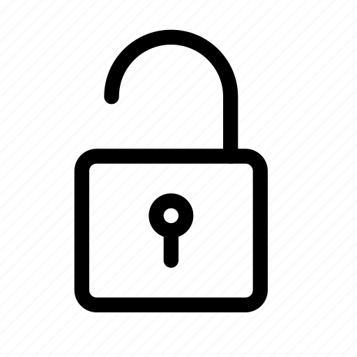 encryption, lock, safe, safety, security, unlock, unlocked icon