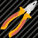 plier, electrician equipment, hand tool, repairing tool icon