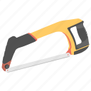 chainsaw, coping saw, hacksaw, hand tool, pipe cutter icon