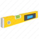 bubble level, carpenter level, spirit level, surveyor level instrument, water level tool icon
