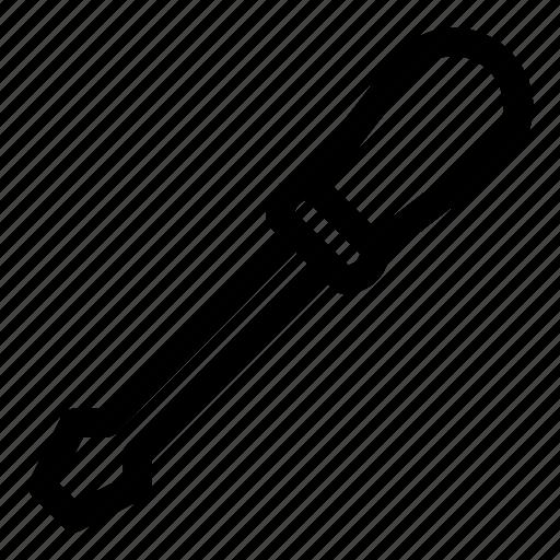 fix, flat-blade screwdriver, repair, screwdriver, tool icon