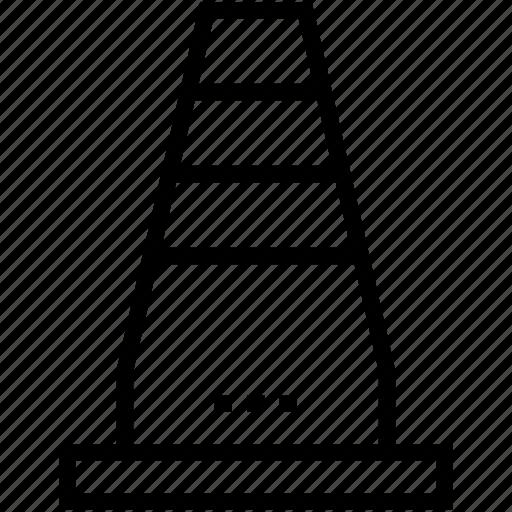 cone pin, construction cone, road cone, safety cone, traffic cone icon