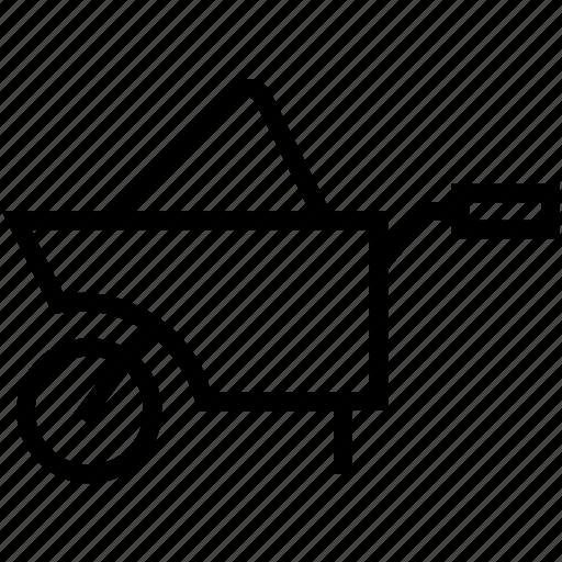 barrow, cart, garden trolley, hand truck, wheelbarrow icon