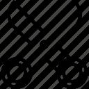 cut, cutting tool, edit, scissor, shear icon