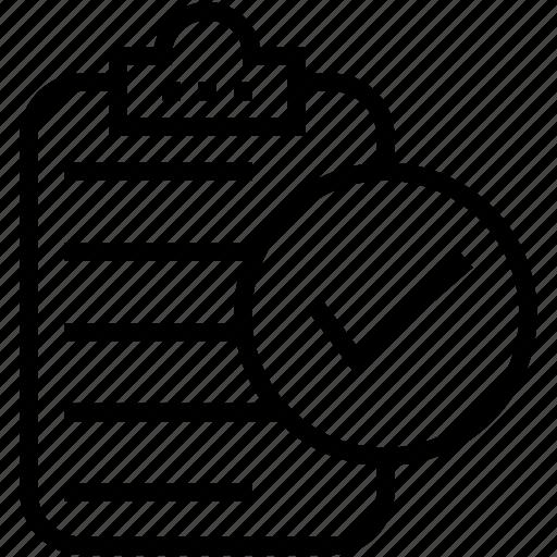clipboard, index, memo, memo list, tick icon