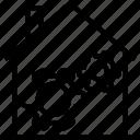 cog, cogwheel, garage, house, settings icon