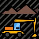 construction, excavation, excavator, industry, vehicle