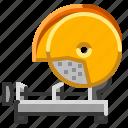 chop, circular, power, saw, tool icon