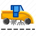 cleaner, dust, road, street, sweeper icon