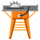 router, saw, table, wood, work