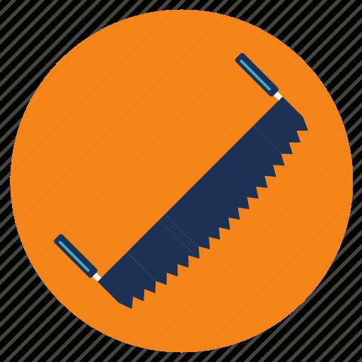 equipment, man, saw, tools icon
