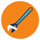adjustable, equipment, tools, wrench icon