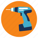 drill, electronic, equipment, tools icon