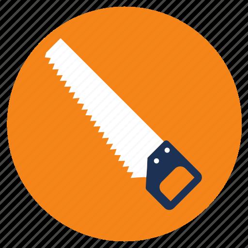 equipment, hand, saw, tools icon