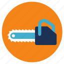 chainsaw, equipment, tools icon
