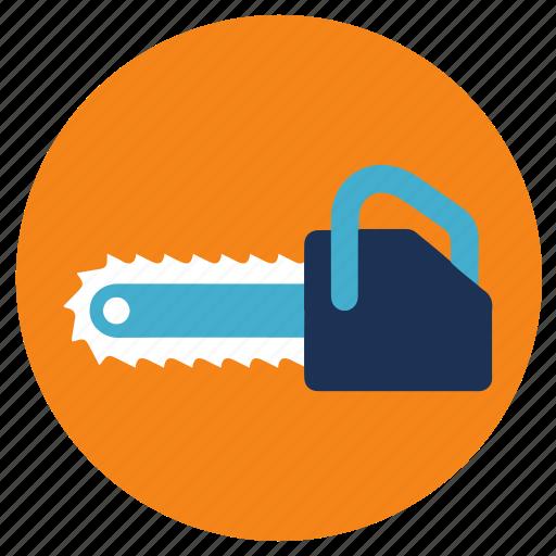 chainsaw, equipment, tools icon