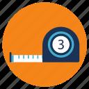 equipment, measure, tape, tools icon