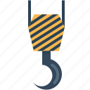 construction, crane, equipment, hook, lift icon