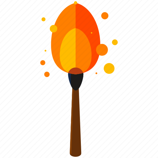 burning, equipment, fire, flame, match, tools icon