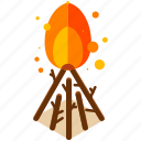camp, camping, equipment, fire, outdoor, tools icon