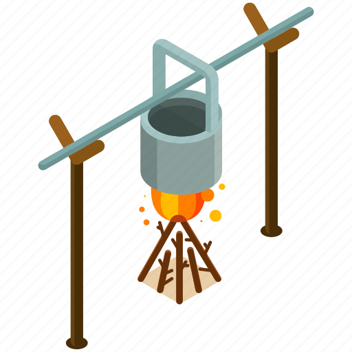 camp, cook, cooking, equipment, fire, tools icon