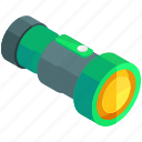 equipment, flashlight, light, night, tools, torch icon