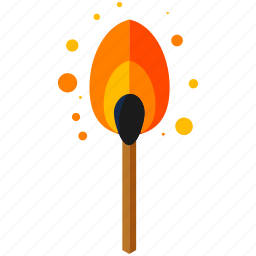 equipment, fire, flame, match, tools icon